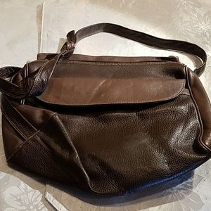Charles Klein brown leather handbag